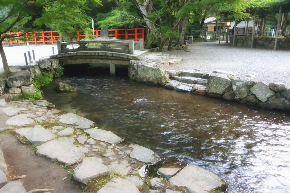 上賀茂神社、楢の小川(御手洗川)