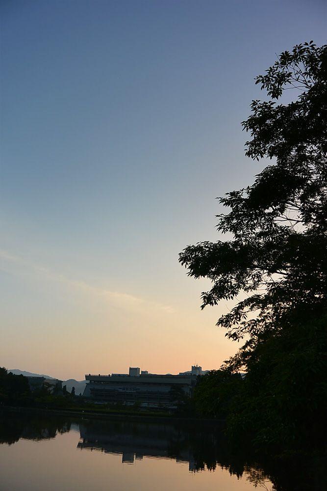夜明けの空は少し高く感じる
